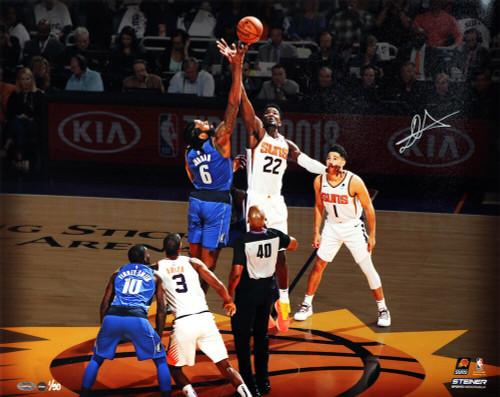 """DEANDRE AYTON Autographed Phoenix Suns 16""""x20"""" """"Tip Off"""" Photograph GDL LE 1/50"""