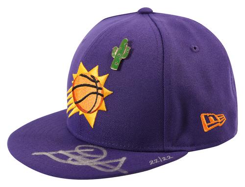 DEANDRE AYTON Autographed Phoenix Suns New Era 2018 Draft Day Cap GDL LE 22/22