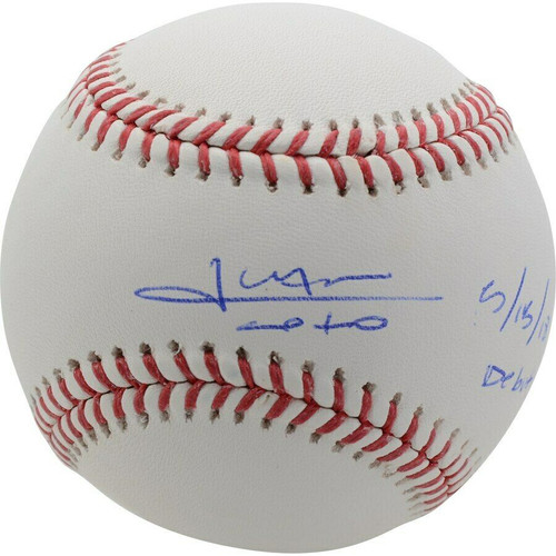 "JUAN SOTO Autographed Washington Nationals ""MLB Debut 5/15/18"" Official MLB Baseball FANATICS"