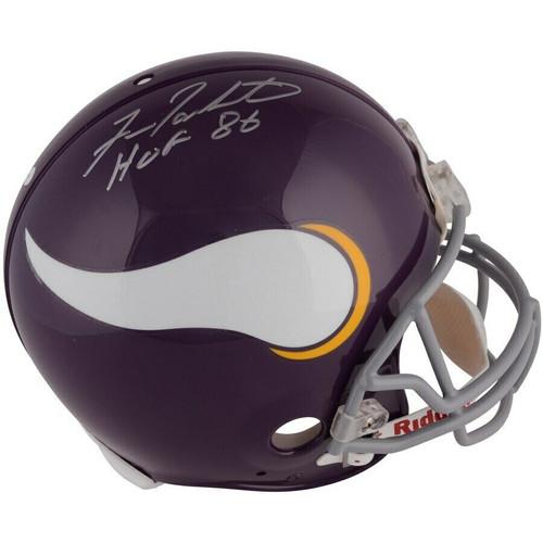 """FRAN TARKENTON Autographed """"HOF 86"""" Minnesota Vikings Proline Helmet FANATICS"""