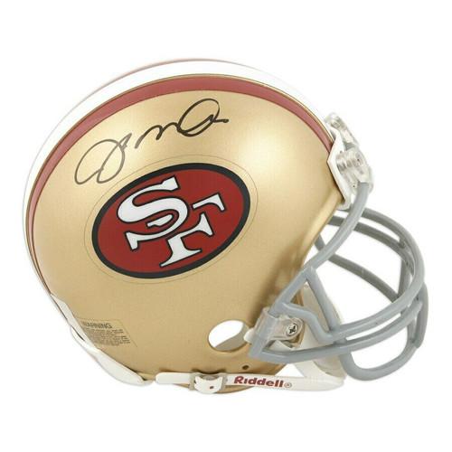 JOE MONTANA Autographed San Francisco 49ers Mini Helmet FANATICS