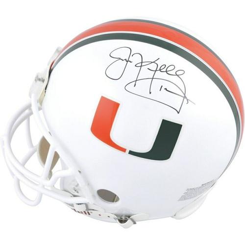 JIM KELLY Autographed Miami Hurricanes Proline Authentic Helmet FANATICS