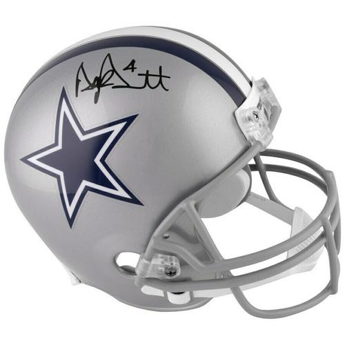 DAK PRESCOTT Autographed Dallas Cowboys Full Size Helmet FANATICS