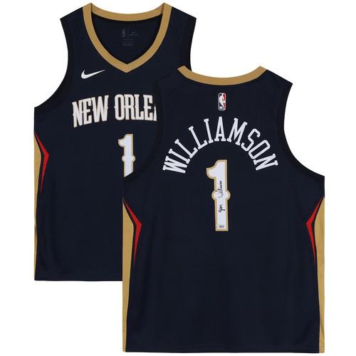 ZION WILLIAMSON Signed New Orleans Pelicans Blue Swingman Jersey FANATICS