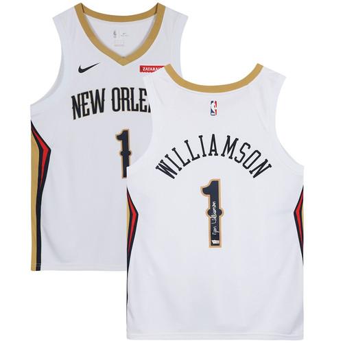 ZION WILLIAMSON Signed New Orleans Pelicans White Swingman Jersey FANATICS