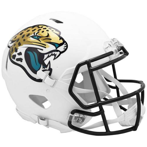 Jacksonville Jaguars Riddell Flat White Matte Revolution Speed Authentic Helmet