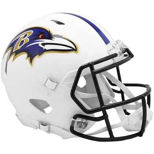 Baltimore Ravens Riddell Flat White Matte Revolution Speed Authentic Helmet