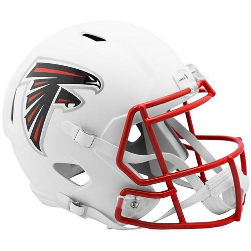 Atlanta Falcons NFL Riddell Flat White Matte Revolution Speed Replica Helmet