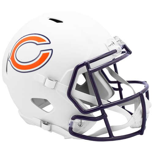 Chicago Bears NFL Riddell Flat White Matte Revolution Speed Replica Helmet