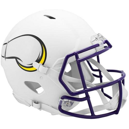 Minnesota Vikings NFL Riddell Flat White Matte Revolution Speed Authentic Helmet