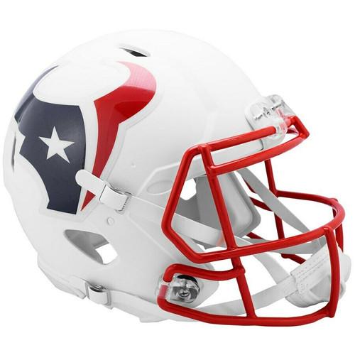Houston Texans Riddell Flat White Matte Revolution Speed Authentic Helmet