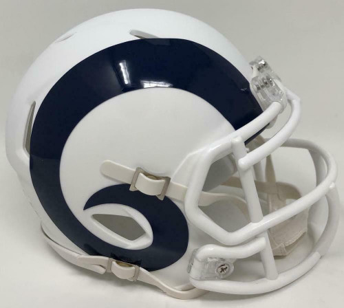Los Angeles Rams Unsigned NFL Riddell Flat White Matte Revolution Speed Mini Helmet