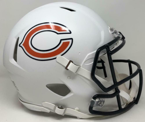 Chicago Bears Riddell Flat White Matte Revolution Speed Authentic Helmet