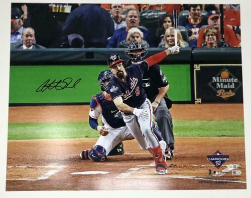 "ANTHONY RENDON Autographed Washington Nationals World Series 16"" x 20"" Photograph FANATICS"
