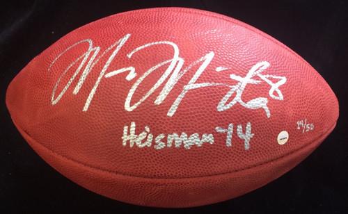 "MARCUS MARIOTA Signed / Inscribed ""Heisman 14"" Duke Football STEINER LE 14/50"