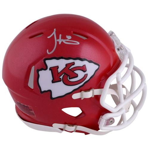 TYREEK HILL Autographed Kansas City Chiefs Mini Speed Helmet FANATICS