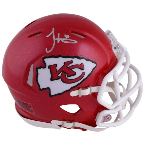 TYREEK HILL Autographed Kansas City Chiefs Mini Speed Helmet FANATICS