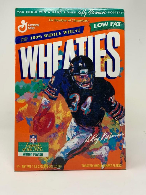 WALTER PAYTON Chicago Bears Unopened Original Wheaties Box