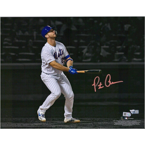 PETE ALONSO Autographed New York Mets HR #53 Spotlight Photograph FANATICS