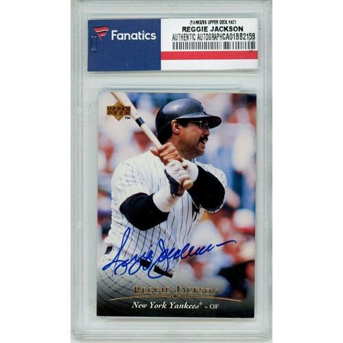 REGGIE JACKSON Autographed New York Yankees/95 Upper Deck #AC1 Trading Card FANATICS