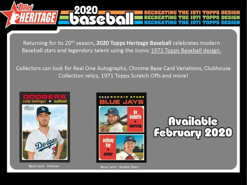 2020 TOPPS HERITAGE BASEBALL 24 Count Retail 8-Box Case MIKE TROUT