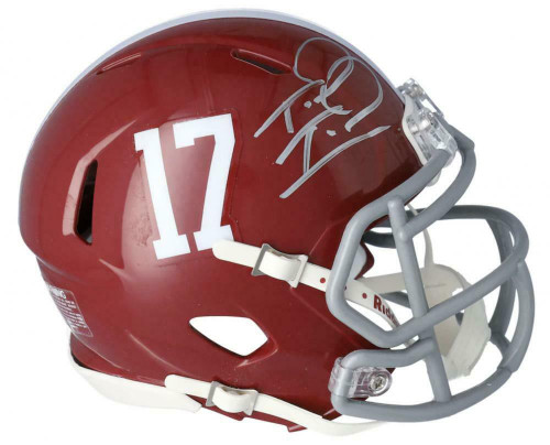 TUA TAGOVAILOA Autographed Alabama Crimson Tide Speed Mini Helmet FANATICS