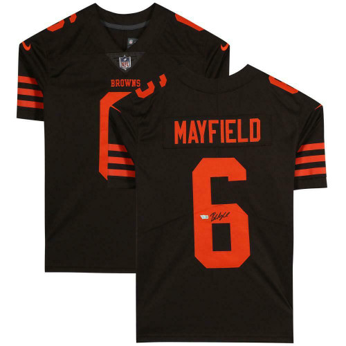 BAKER MAYFIELD Autographed Cleveland Browns Nike Limited Brown Jersey FANATICS