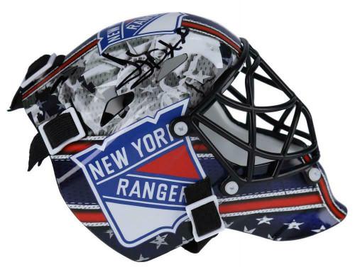 HENRIK LUNDQVIST Autographed New York Rangers Mini Goalie Mask FANATICS