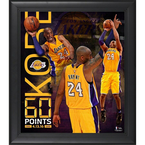 """KOBE BRYANT Los Angeles Lakers Framed 15"""" x 17"""" 60 Point Finale Collage"""
