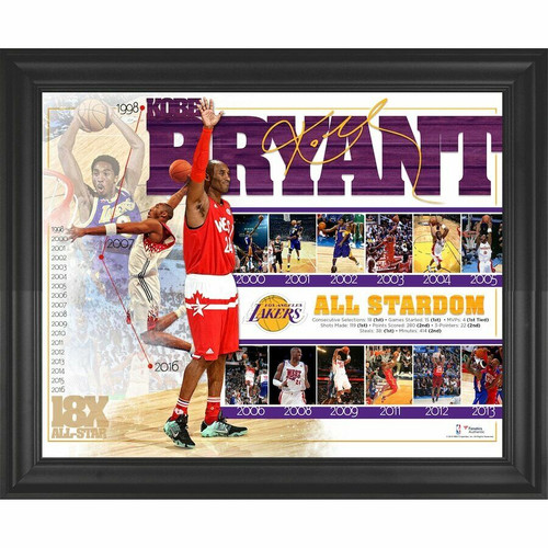 """KOBE BRYANT Los Angeles Lakers Framed 16"""" x 20"""" All-Star Game Commemorative Collage"""