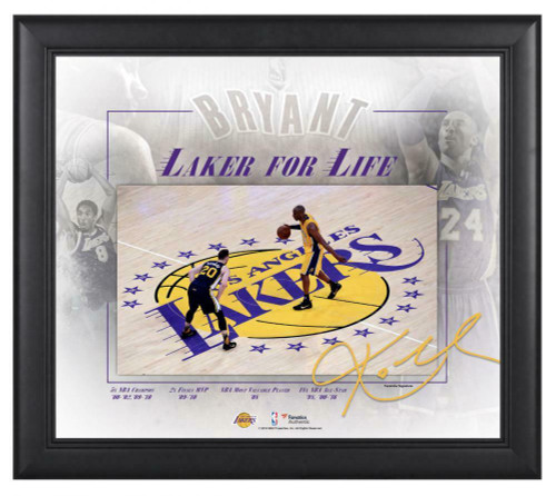"""KOBE BRYANT Los Angeles Lakers Framed 15"""" x 17"""" Final Game Collage"""