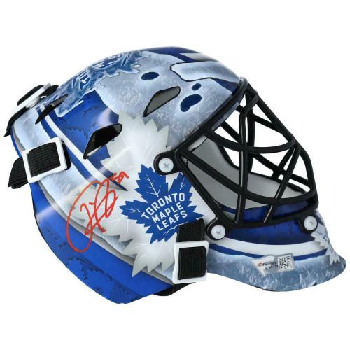 FREDERIK ANDERSEN Autographed Toronto Maple Leafs Mini Goalie Mask FANATICS