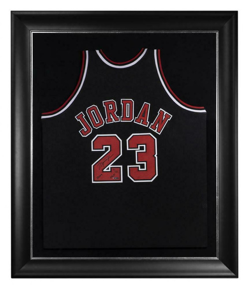 "MICHAEL JORDAN Autographed Chicago Bulls ""2009 HOF"" Authentic Alt. Black Jersey UDA LE 75/123"