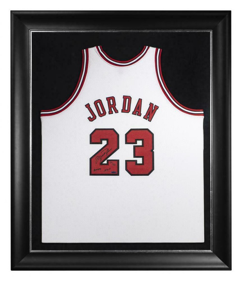 "MICHAEL JORDAN Autographed Chicago Bulls ""2009 HOF"" Authentic White Jersey UDA LE 39/123"