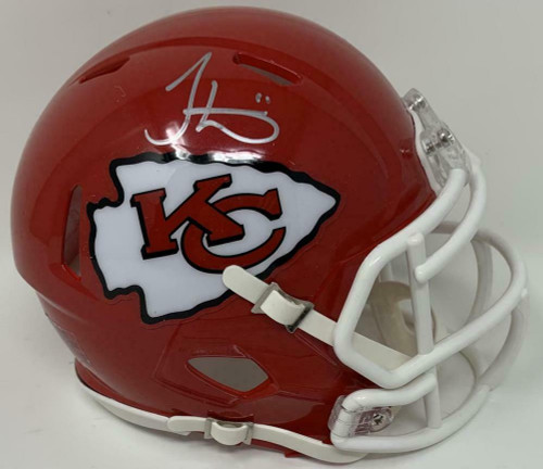 TYREEK HILL Autographed Kansas City Chiefs Super Bowl Logo Mini Speed Helmet FANATICS