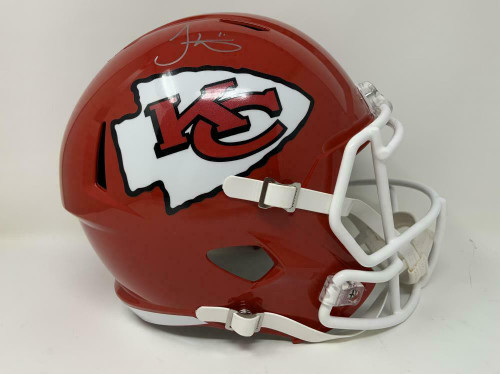TYREEK HILL Autographed Kansas City Chiefs Super Bowl Logo Full Size Speed Helmet FANATICS