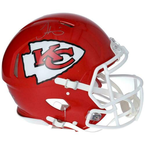 TYREEK HILL Autographed Kansas City Chiefs Super Bowl Logo Authentic Speed Helmet FANATICS