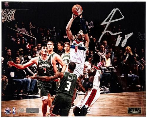 "RUI HACHIMURA Autographed Washington Wizards ""In Traffic"" 16"" x 20"" Photograph PANINI LE 88"