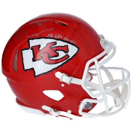 DAMIEN WILLIAMS Autographed SB LIV Champs Kansas City Chiefs Authentic Speed Helmet FANATICS