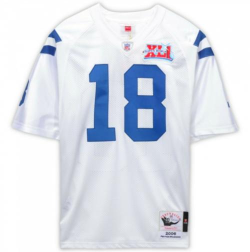 PEYTON MANNING Autographed Indianapolis Colts 2006 SB XLI Authentic Stat Jersey FANATICS