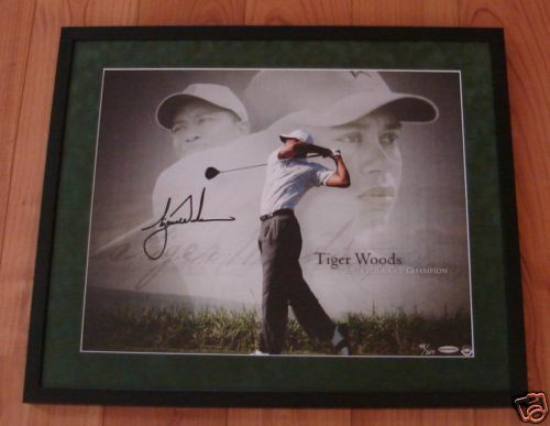 TIGER WOODS Signed '07 FedEx Cup 16x20 Photo UDA LE 207