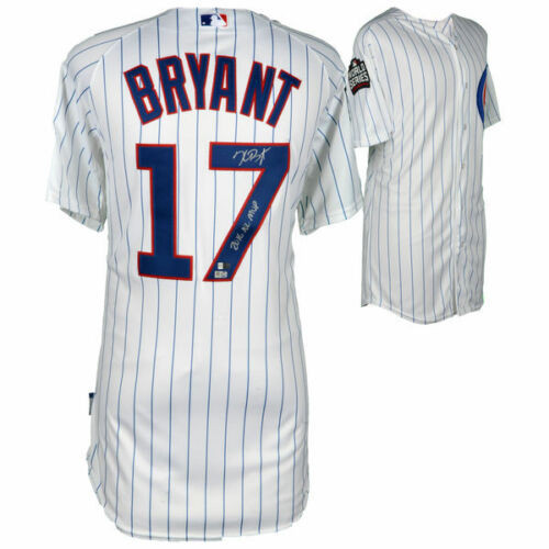 """KRIS BRYANT Signed / Inscribed Chicago Cubs""""2016 NL MVP"""" Authentic White Jersey FANATICS"""