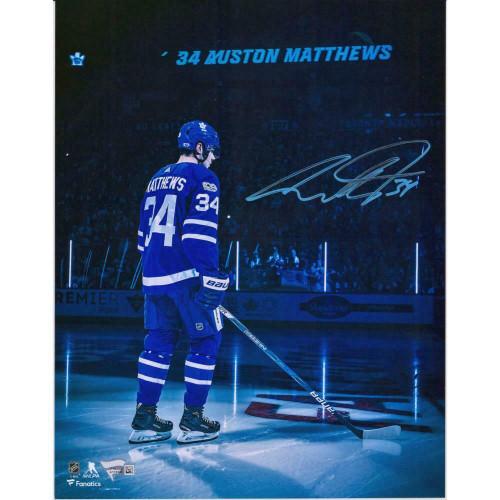 "AUSTON MATTHEWS Autographed Toronto Maple Leafs 11"" x 14"" Photograph FANATICS"