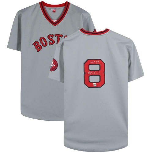 "CARL YASTRZEMSKI Autographed and Inscribed ""HOF 89"" Boston Red Sox Authentic Jersey FANATICS"