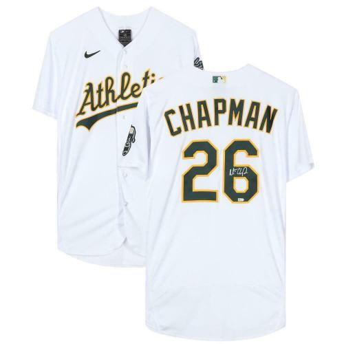 MATT CHAPMAN Autographed Oakland Athletics Authentic White Jersey FANATICS