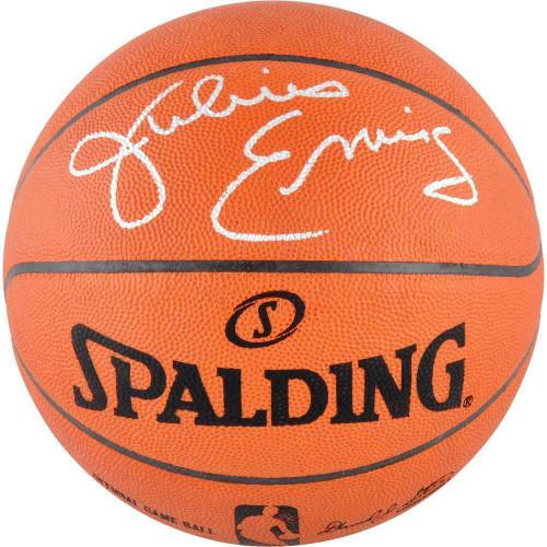 JULIUS ERVING Autographed Philadelphia 76ers Authentic Spalding Basketball FANATICS
