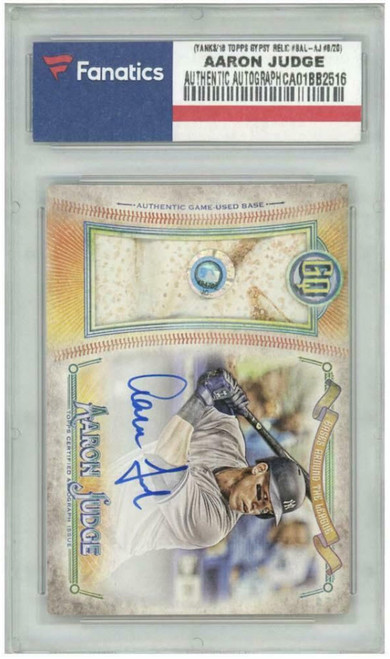 AARON JUDGE Autographed 2018 Topps Gypsy Queen Base Relic Card LE 8/20