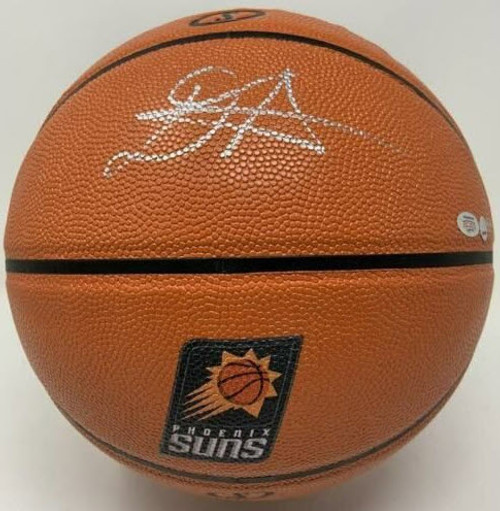 DEANDRE AYTON Autographed Phoenix Suns Logo Basketball GDL LE 50/50