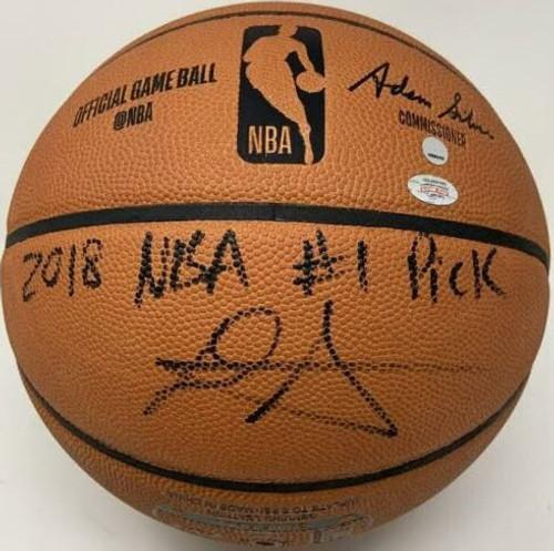 DEANDRE AYTON Autographed 2018 NBA #1 Pick Authentic Basketball GDL LE 1/22