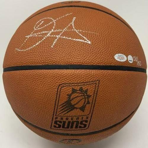 DEANDRE AYTON Autographed Phoenix Suns Logo Authentic Basketball GDL LE 50/50
